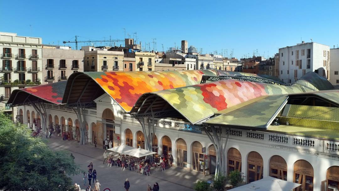 El Mercat de Santa Caterina destaca por su espectacular techo modernista